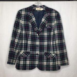 Vintage Pendleton Wool Plaid Blazer